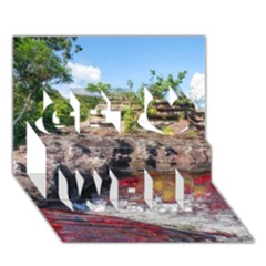 CANO CRISTALES 2 Get Well 3D Greeting Card (7x5)