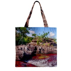 CANO CRISTALES 2 Zipper Grocery Tote Bags