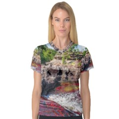 Cano Cristales 2 Women s V Neck Sport Mesh Tee