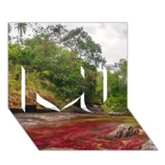 CANO CRISTALES 1 I Love You 3D Greeting Card (7x5)