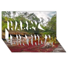 Cano Cristales 1 Happy Birthday 3d Greeting Card (8x4)