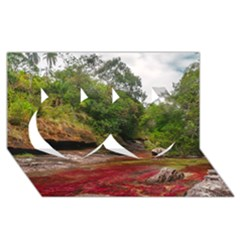 CANO CRISTALES 1 Twin Hearts 3D Greeting Card (8x4)