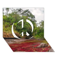 CANO CRISTALES 1 Peace Sign 3D Greeting Card (7x5)
