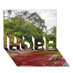 CANO CRISTALES 1 HOPE 3D Greeting Card (7x5)