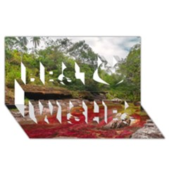 CANO CRISTALES 1 Best Wish 3D Greeting Card (8x4)