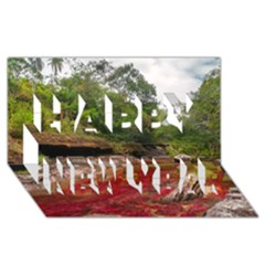 CANO CRISTALES 1 Happy New Year 3D Greeting Card (8x4)