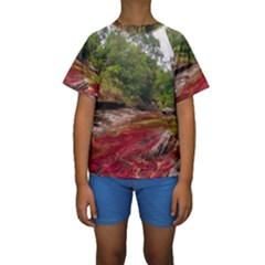 CANO CRISTALES 1 Kid s Short Sleeve Swimwear