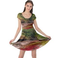 CANO CRISTALES 1 Cap Sleeve Dresses