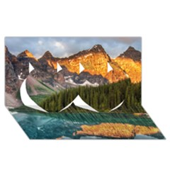 BANFF NATIONAL PARK 4 Twin Hearts 3D Greeting Card (8x4)