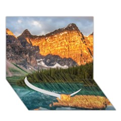 Banff National Park 4 Heart Bottom 3d Greeting Card (7x5)