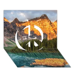 BANFF NATIONAL PARK 4 Peace Sign 3D Greeting Card (7x5)