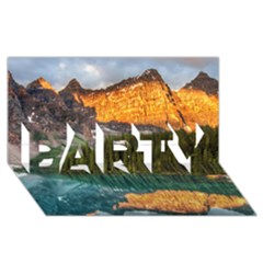 Banff National Park 4 Party 3d Greeting Card (8x4)