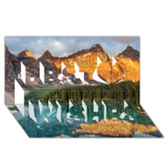 Banff National Park 4 Best Wish 3d Greeting Card (8x4)