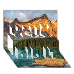 BANFF NATIONAL PARK 4 You Did It 3D Greeting Card (7x5)