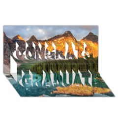 BANFF NATIONAL PARK 4 Congrats Graduate 3D Greeting Card (8x4)
