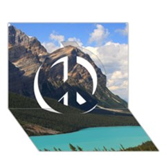 Banff National Park 3 Peace Sign 3d Greeting Card (7x5)