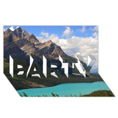Banff National Park 3 Party 3d Greeting Card (8x4)