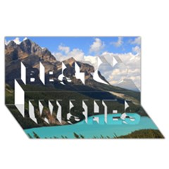 BANFF NATIONAL PARK 3 Best Wish 3D Greeting Card (8x4)