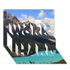 BANFF NATIONAL PARK 3 WORK HARD 3D Greeting Card (7x5)