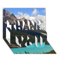 Banff National Park 3 Thank You 3d Greeting Card (7x5)