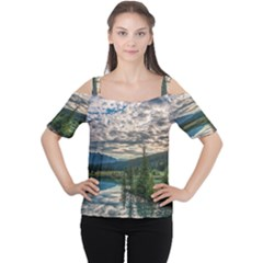 BANFF NATIONAL PARK 2 Women s Cutout Shoulder Tee