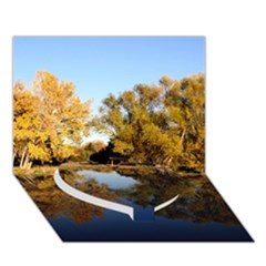 AUTUMN LAKE Heart Bottom 3D Greeting Card (7x5)