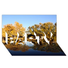 AUTUMN LAKE PARTY 3D Greeting Card (8x4)