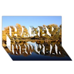 AUTUMN LAKE Happy New Year 3D Greeting Card (8x4)