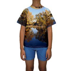 AUTUMN LAKE Kid s Short Sleeve Swimwear