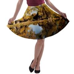Autumn Lake A Line Skater Skirt