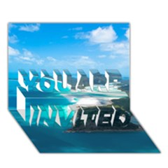 Whitehaven Beach 2 You Are Invited 3d Greeting Card (7x5)