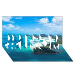 Whitehaven Beach 2 #1 Mom 3d Greeting Cards (8x4)