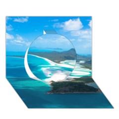 Whitehaven Beach 2 Circle 3d Greeting Card (7x5)