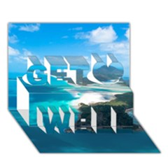 Whitehaven Beach 2 Get Well 3d Greeting Card (7x5)