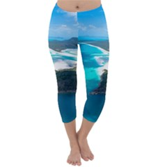 Whitehaven Beach 2 Capri Winter Leggings
