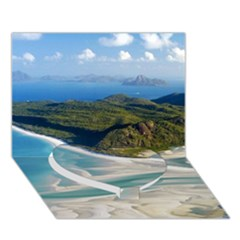 Whitehaven Beach 1 Heart Bottom 3d Greeting Card (7x5)