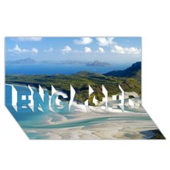 Whitehaven Beach 1 Engaged 3d Greeting Card (8x4)