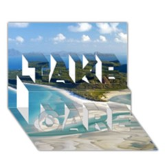 Whitehaven Beach 1 Take Care 3d Greeting Card (7x5)