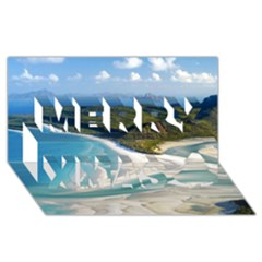 WHITEHAVEN BEACH 1 Merry Xmas 3D Greeting Card (8x4)
