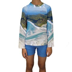 WHITEHAVEN BEACH 1 Kid s Long Sleeve Swimwear