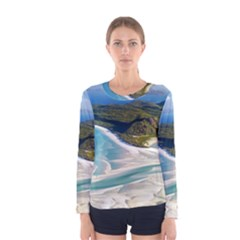 WHITEHAVEN BEACH 1 Women s Long Sleeve T-shirts
