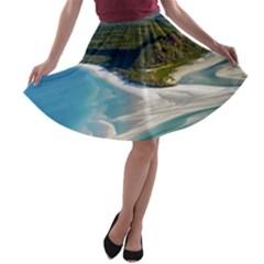WHITEHAVEN BEACH 1 A-line Skater Skirt