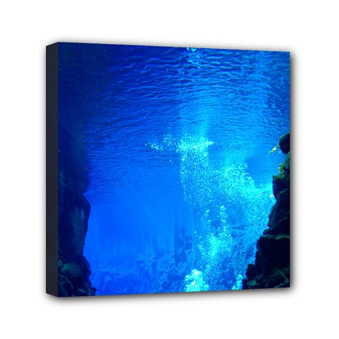 UNDERWATER TRENCH Mini Canvas 6  x 6