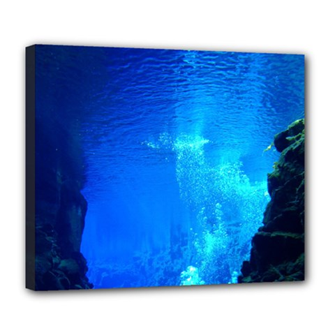 UNDERWATER TRENCH Deluxe Canvas 24  x 20