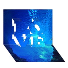 UNDERWATER TRENCH LOVE 3D Greeting Card (7x5)