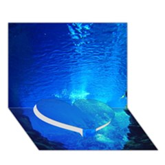 UNDERWATER TRENCH Heart Bottom 3D Greeting Card (7x5)