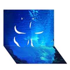 UNDERWATER TRENCH Clover 3D Greeting Card (7x5)