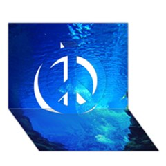 Underwater Trench Peace Sign 3d Greeting Card (7x5)