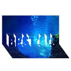 UNDERWATER TRENCH BEST SIS 3D Greeting Card (8x4)