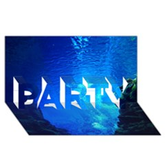 Underwater Trench Party 3d Greeting Card (8x4)